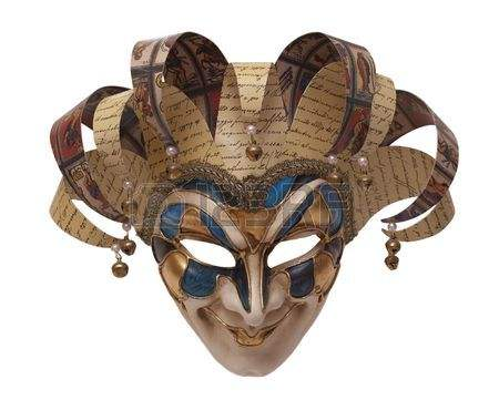 5864179 masque de traditionnel italien de harlequin frontal carnaval de venise